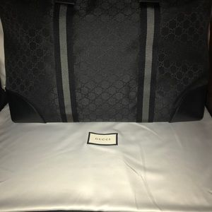 Gucci Shoulder Duffle New Gg Guccissima black